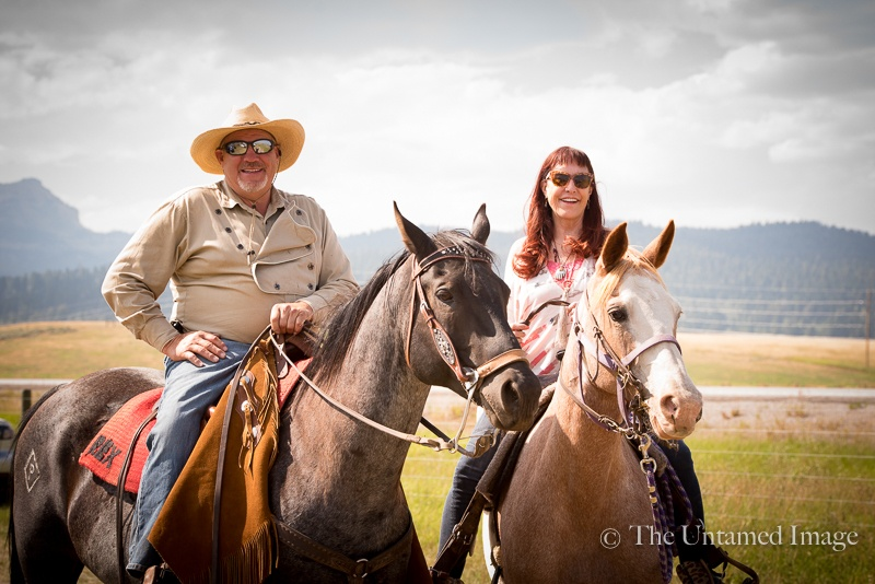 Owners of the Diamond P Ranch, Rex Portmann and sister Toni Portmann